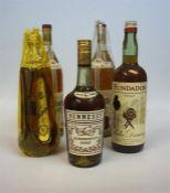 Five Bottles Of Assorted Brandy & Cognac, to include Hennessy Cognac, two litre bottles of Asbach