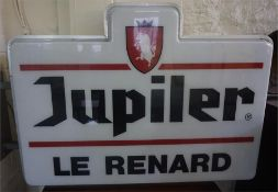 A Large Wall Mounting Advertising Sign, for Jupiler Belgian beer, 80cm high, 125cm wide