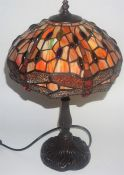 A Tiffany Style Table Lamp With Shade, fitted for electricity, 51cm high