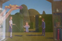 "Joseph Hewes Born 1954 ""Harvest Of Joy"" Oil On Panel, 60 x 120cm, framed"