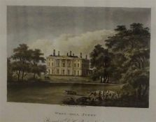 """J. Hafsell """"West -Hill Surry"""" Engraving, the seat of D.H. Rucker Esq, 12.5 x 18cm, also with a"""