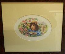 "After James Alder Colour Photolitograph, Two Signed Artist,s Proofs, ""H.R.H. Princess Elizabeth At"