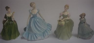 Two Royal Doulton Statuettes, Comprising of Clarissa HN 2345, and Fleur HN 2368, 20cm high, also
