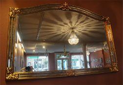 A Large Modern Gilt Framed Wall Mirror, 89cm high, 126cm wide