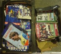 A Large Quantity Of Scottish Football Programmes, mainly of Rangers and Hearts FC, circa 1990s, (2