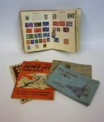 A Small Mixed Lot Of World Stamps & Cigarette Cards, to include Royal Mail, Golden Arrow and Super-