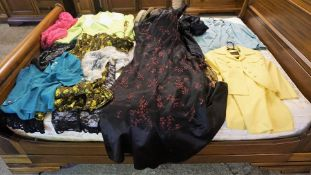 A Quantity of Ladies Vintage Clothing, circa 1970s, to include jacket and skirt sets by Feminella