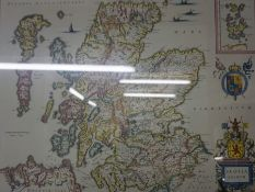 "After Johan Blaeu ""Scotland & Renfrewshire"" Two Print Maps, Printed By John Bartholomew & Son,"