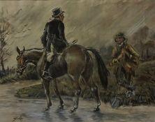 "After Charles Johnson Payne (Snaffles) (British 1884-1967) ""Galway"" Watercolour, circa 1930s, signed"