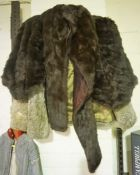 Two Ladies Fur Jackets, one retailed by Jenners, the other a size 12, also with a fur stole, (3)