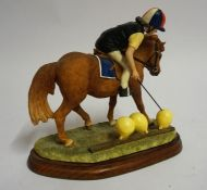 "A Border Fine Arts Figure Group ""The Balloon Race"" From the Hay Days range, 15cm high"