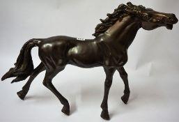 A Large Cast Bronze Figure of a Horse, 46cm high