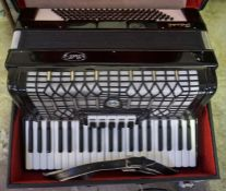 A Bell Piano Accordion, with carry case,