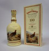 The Famous Grouse Finest Scotch Whisky Highland Decanter with Contents by Wade, to commemorate 100
