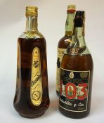 Four Bottles of Assorted Brandy, to include bottles by Napoleon, Fundador, and Soberano, (4)