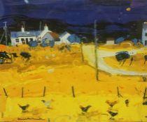 "Hamish MacDonald DA PAI (Scottish 1935-2008) ""Farm Hens, Skye"" Signed Limited Edition Lithographic"