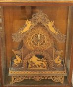 A Large Late Victorian Fretwork Bracket Clock by Seth Thomas, the clock is decorated in