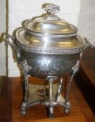 A Silver Plated Samovar, 49cm high
