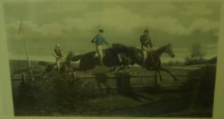"""After Ben Herring, A Set of Four Sporting Horse Racing Prints, Entitled """"Restive at the Post"""" """""""