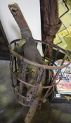 A Quantity of Horse Harness,s and Frames, In a metal basket, (5)