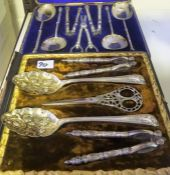 Two Sets of Victorian Silver Plated Fruit & Nut Sets, The first set set having four serving