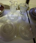 A Quantity of Glassware, circa late 19th/early 20th century, To include etched glass rinsing