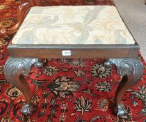 A Chippendale Style Mahogany Dressing Stool, circa late 19th century, with a detachable