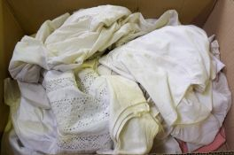 A Quantity of Silk & Linen Under and Over Garments, circa Victorian and later, (12)