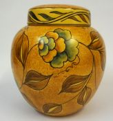 A Chameleon Ware Ginger Jar with Cover by Clewes & Co Ltd, Decorated with all over floral panels and