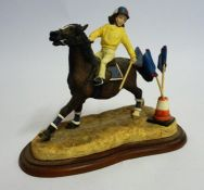 "A Border Fine Arts Figure Group ""No Brakes"", From the Hay Days range, 15cm high"