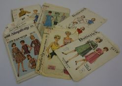 A Quantity of Vintage Sewing Patterns, circa 1950s, to include examples by Simplicity, Butterick,