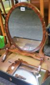 A Mahogany Dressing Mirror, 59cm high, also with an Antique wall mirror, a/f, (2)