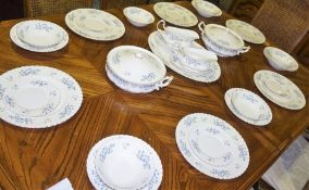 "A Richmond ""Blue Rock"" Bone China Part Dinner Set, To include two tureens, dinner plates, soup bowls"