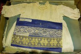 A Large Quantity of Linen and Lace, circa late 19th/early 20th century, To include Christening robe,