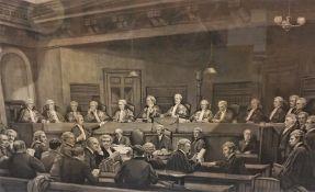 "William Skeoch Cumming (Scottish 1864-1929) ""The Scottish Bench and Bar 1890"" Proof Print, no 99, 45"