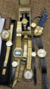 A Mixed Lot of Assorted Vintage Ladies and Gents Wristwatches, To Include a Carsa swiss made