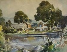 "James Forbes Walker (Scottish) ""Landscape & Lake Scene"" Watercolour, signed indistinctly to lower"