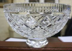 A Waterford Crystal Bowl, 13cm high, 20cm diameter, with box