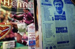 A Quantity of Scottish Football Programmes, Mainly of Hearts FC, approximately 60 in total