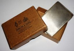 A Silver Cigarette Case, Hallmarks for Atkins Bros Ltd, Birmingham, engraved to inside, 13 x 8.