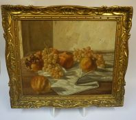 """Continental School """"Still Life"""" Oil on Canvas, dated 1959 to lower right, unsigned, 42.5 x 33cm,"""