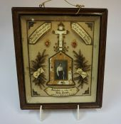 A German Remembrance Picture, for Rola Arnold, dated 1921, 36 x 30cm, beneath glass, framed
