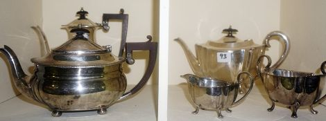 A Quantity of Silver Plated Wares, to include cake baskets, tea pots, boxed goblets, etc
