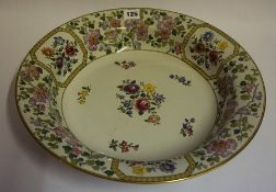 A Rare Spode Polychrome Enamel Bowl, circa 1910, Decorated with enamel over copper plate engraved