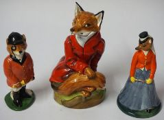 A Royal Stafford Limited Edition Porcelain Figure of a Hunting Fox, no 1482 of 2500, 20cm high, with