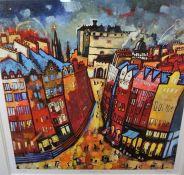 "Rob Hain (Contemporary) ""Edinburgh Nights"" Limited Edition Lithographic Print, no 43 of 195,"
