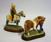 "Two Border Fine Arts Figure Groups ""Fancy Dress Parade"" ""Love You Too"", From the Hay Days range, 11,"