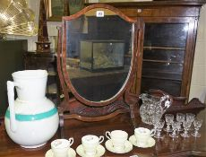 A Mixed Lot of Crystal and Collectables, To include a crystal jug, eight crystal liqueur glasses,