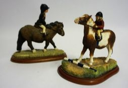 "Two Border Fine Arts Figure Groups ""First Time Out"" and ""Im so Stubborn"", From the Hay Days range,"