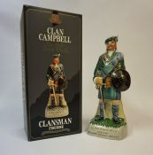 The Clan Campbell Clansman Figurine, containing Clan Campbell De Luxe Blended Scotch Whisky, 43%